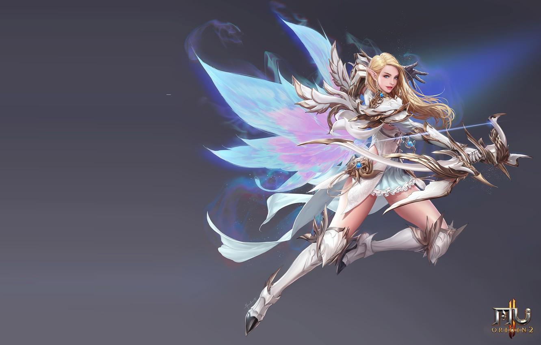 Фото обои игра, лучница, фэнтези, арт, MMORPG, дизайн костюма, seunghee lee, MU origin2 -Fairy-