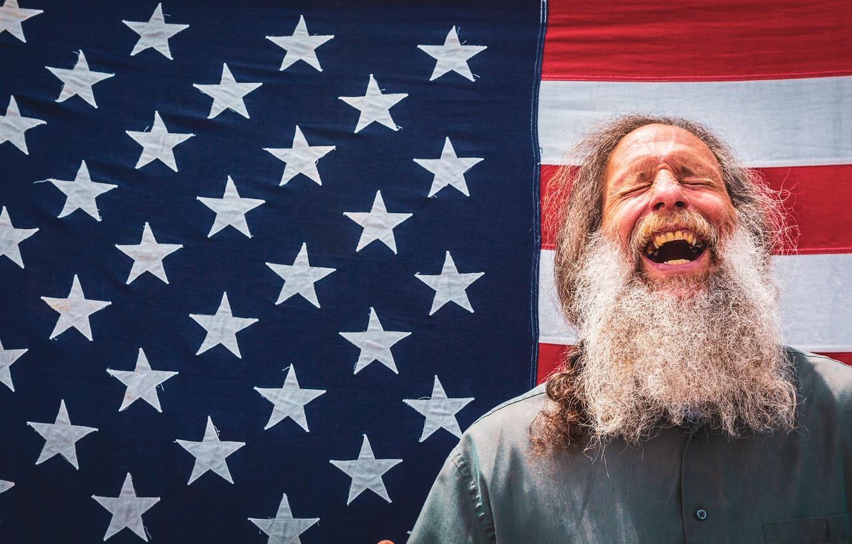Фото обои фон, человек, флаг