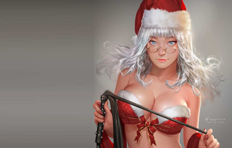 Фото обои аниме, арт, снегурочка, St. Cygnus, Mercy Christmas