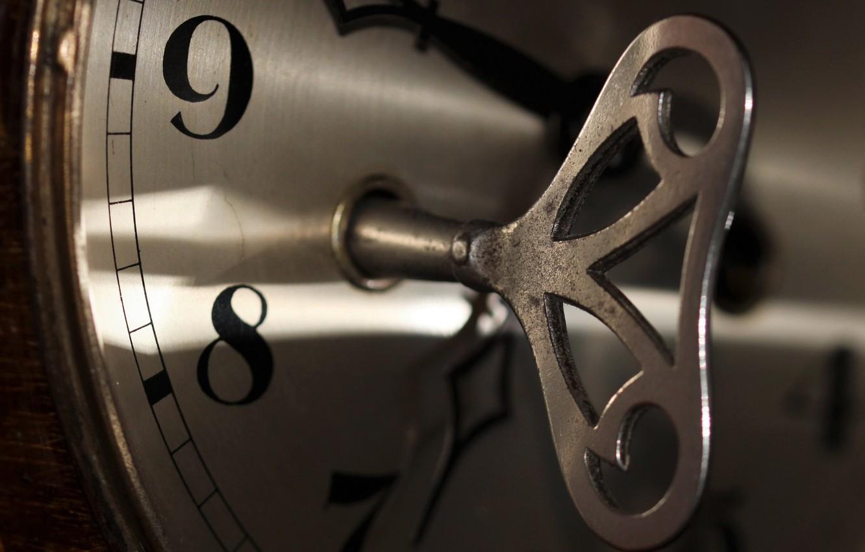 Фото обои время, часы, ключ