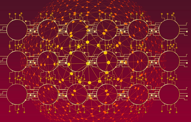 Фото обои данные, ячейки, блок-цепь