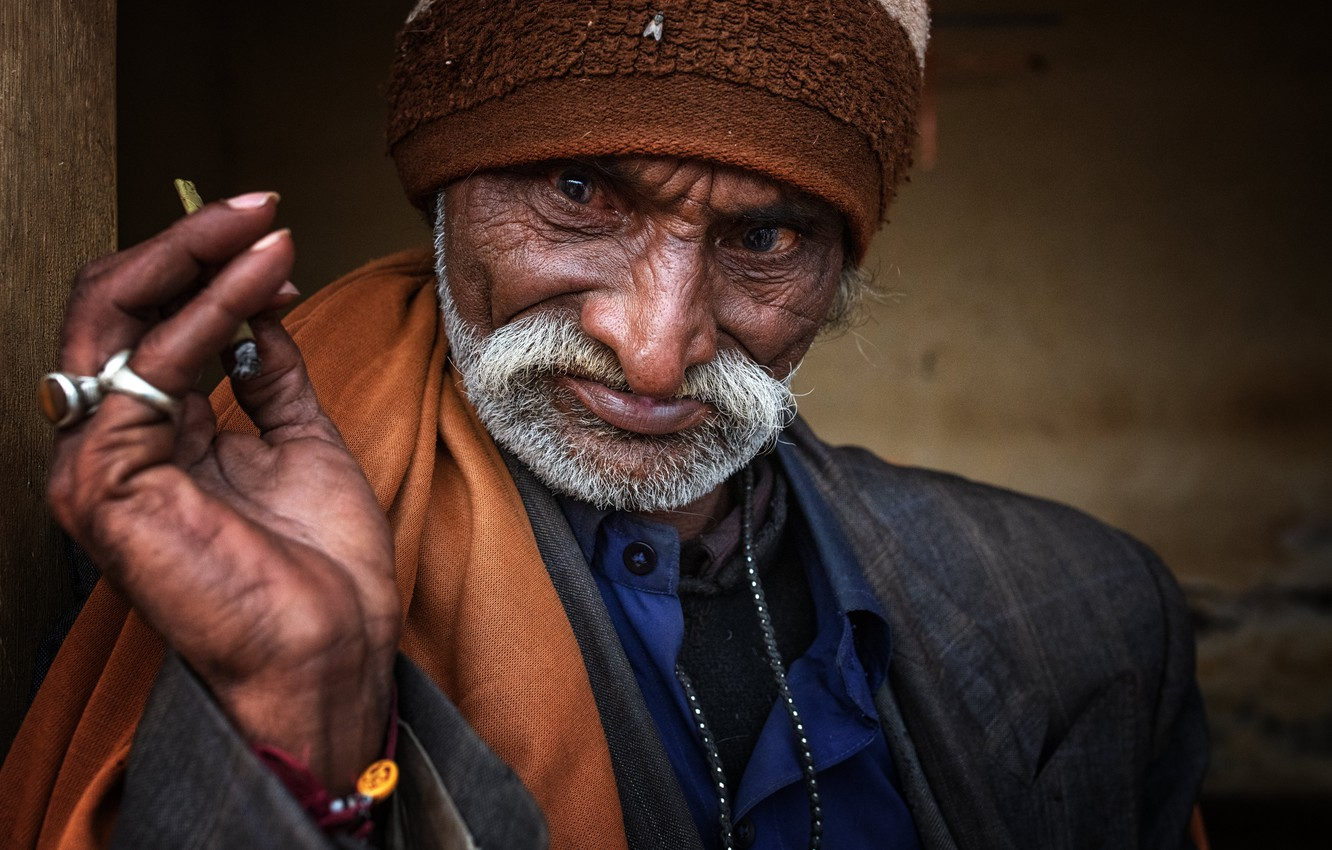 Фото обои man, portrait, india, gujarat