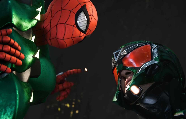 Фото обои Sony, scorpion, Marvel, Spider-Man, Exclusive, PS4, Insomniac Games