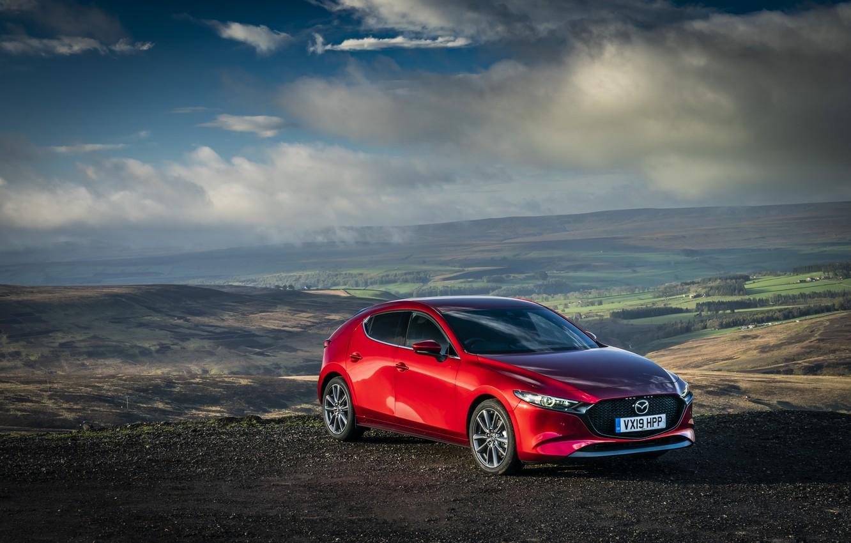 Фото обои Mazda, Hatchback, Mazda3, Skyactiv-G, 2019-20