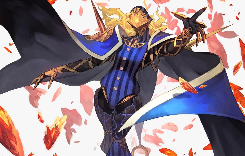 Фото обои маска, плащ, персонаж, Fate / Grand Order, Судьба великая кампания