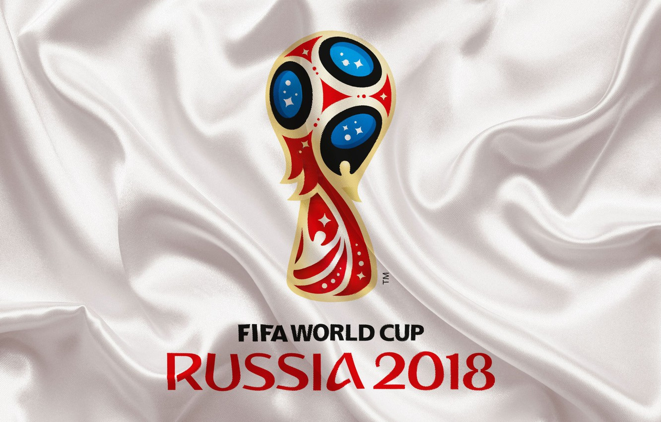 Фото обои sport, logo, Russia, football, soccer, World Cup, FIFA, white background, FIFA World Cup, official logo, …