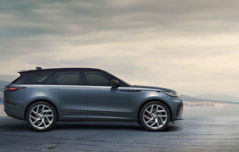 Фото обои небо, Машина, Land Rover, Range Rover, кроссовер, SVAutobiography, Velar, Dynamic Edition