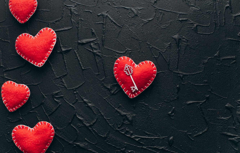 Фото обои любовь, сердце, red, love, key, romantic, hearts, valentine's day, gift