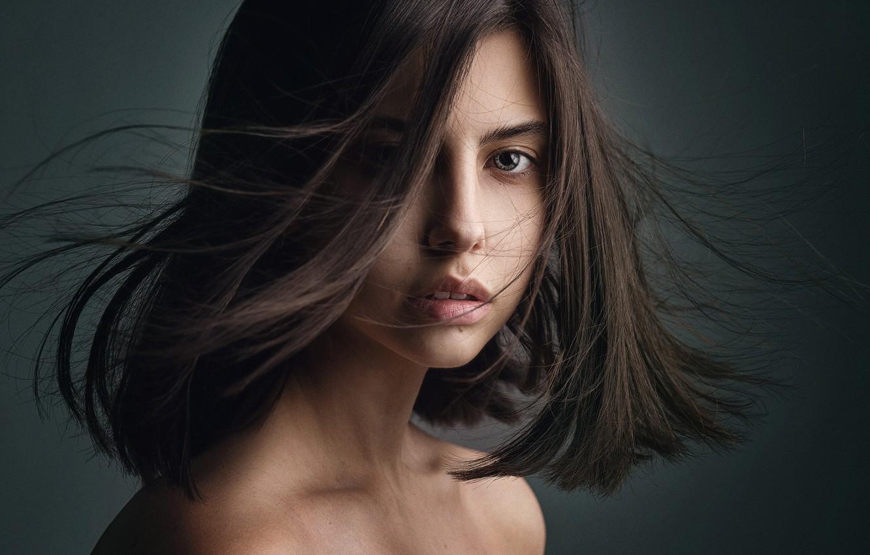 Фото обои волосы, родинка, губки, Олег Павлинский