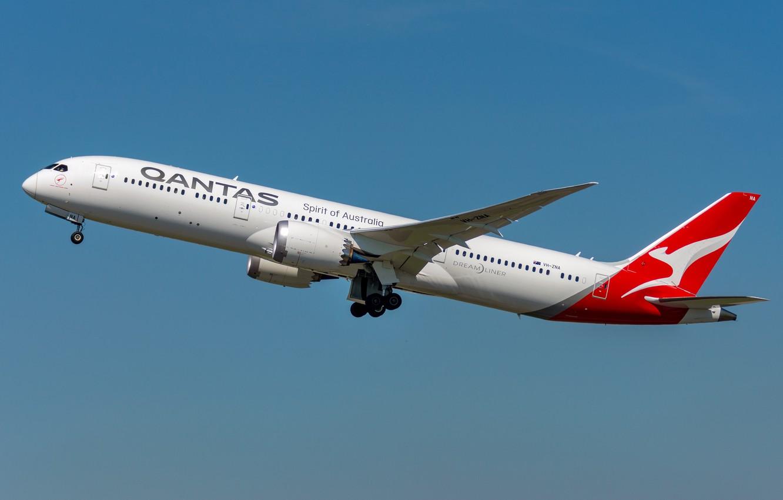 Фото обои Boeing, Qantas, 787-9