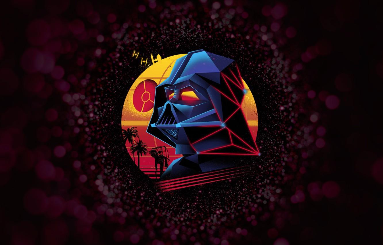 Фото обои Минимализм, Рисунок, Космос, Star Wars, Darth Vader, Маска, Арт, Дарт Вейдер, Lord Vader, by Vincenttrinidad, …