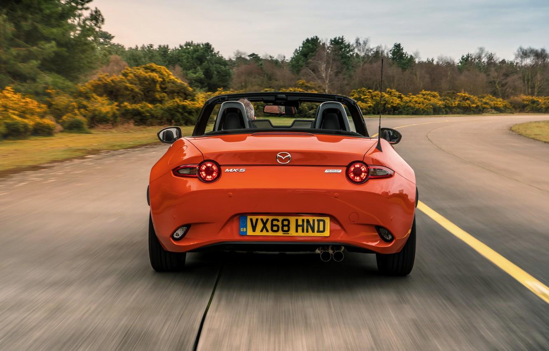 Фото обои оранжевый, Mazda, родстер, вид сзади, MX-5, 30th Anniversary Edition, 2019