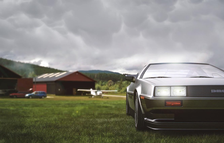 Фото обои Авто, Машина, DeLorean DMC-12, Art, DeLorean, DMC-12, Transport & Vehicles, DMC BTTF, Umut Ersoy, by …