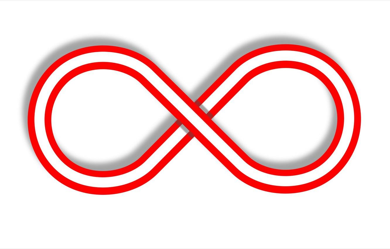 Фото обои абстракная фигура, бесконечность, восемь