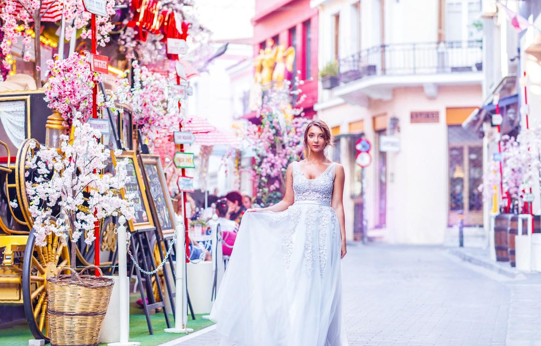 Фото обои романтика, сказка, платье, принцесса, розовый фон, красивая девушка