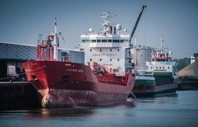 Фото обои корабли, порт, танкер, Нидерланды, Vlissingen