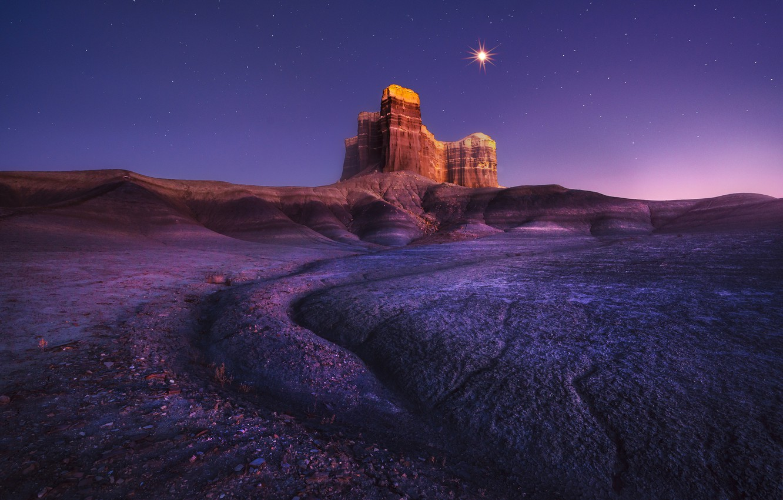 Фото обои звезды, скала, планета, rock, stars, planet, Atanu Bandyopadhyay