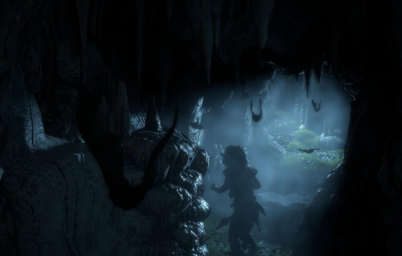 Фото обои Небо, Пещера, Horizon, Sony Computer Entertainment, Guerrilla Games, Horizon: Zero Dawn, Летучие мыши, Horizon Zero …