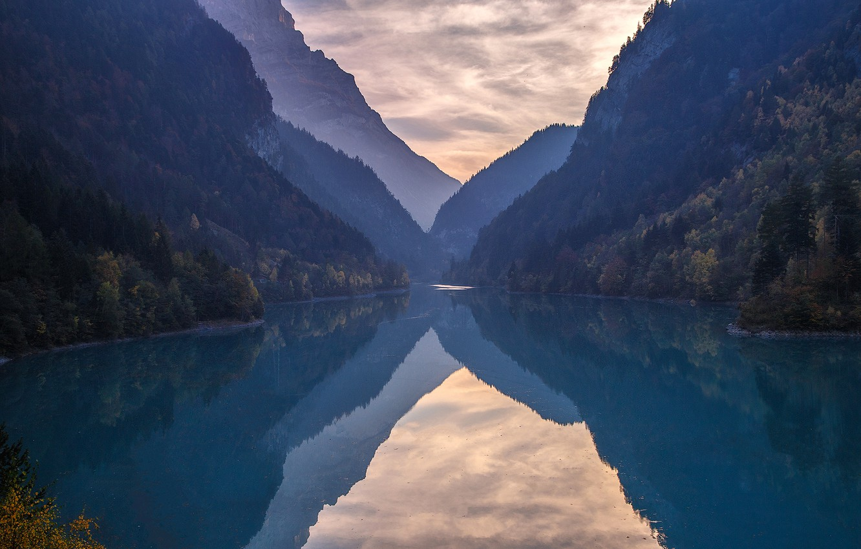 Фото обои лес, облака, горы, отражение, forest, mountains, clouds, reflection, Andrey Bazanov, Андрей Базанов