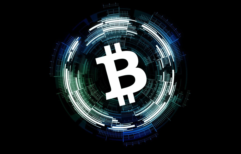 Фото обои лого, валюта, fon, bitcoin, биткоин, cryptocurrency