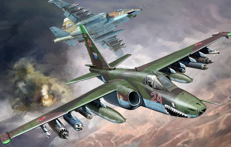 Обои ввс россии, su-25, штурмовик, Frogfoot. Авиация foto 12