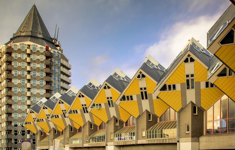 Фото обои Нидерланды, архитектура, Голландия, Роттердам