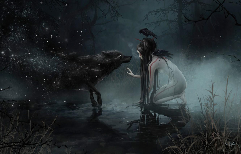 Обои рычит, Оборотень, werewolf, wolf. Разное foto 14