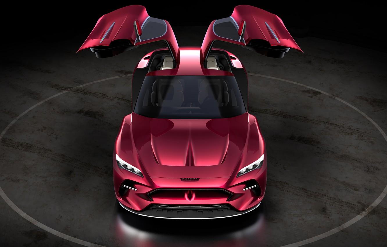 Фото обои машина, фары, двери, concept, спорткар, Italdesign, DaVinci