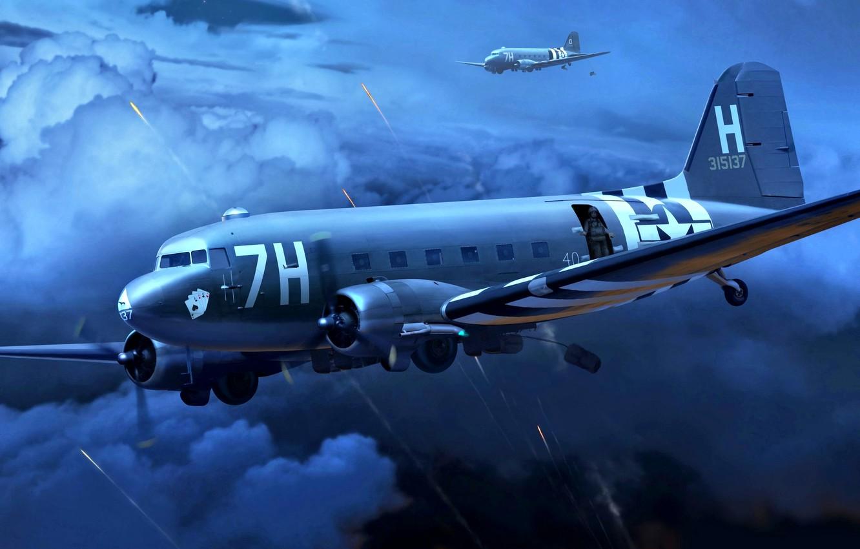 Обои Дуглас c-47, американский. Авиация foto 12