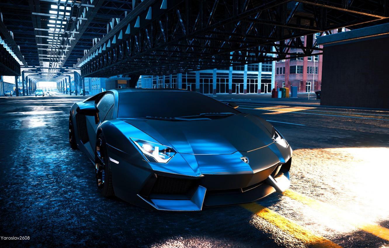 Фото обои игры, lamborghini, автомобиль, aventador, lamborghini Aventador, The Crew 2
