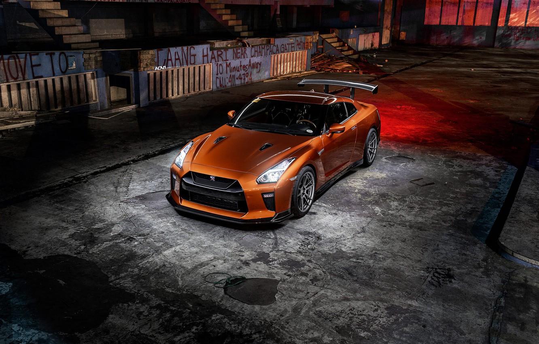 Фото обои GTR, Light, Nissan, R35, Graphity, Bronze