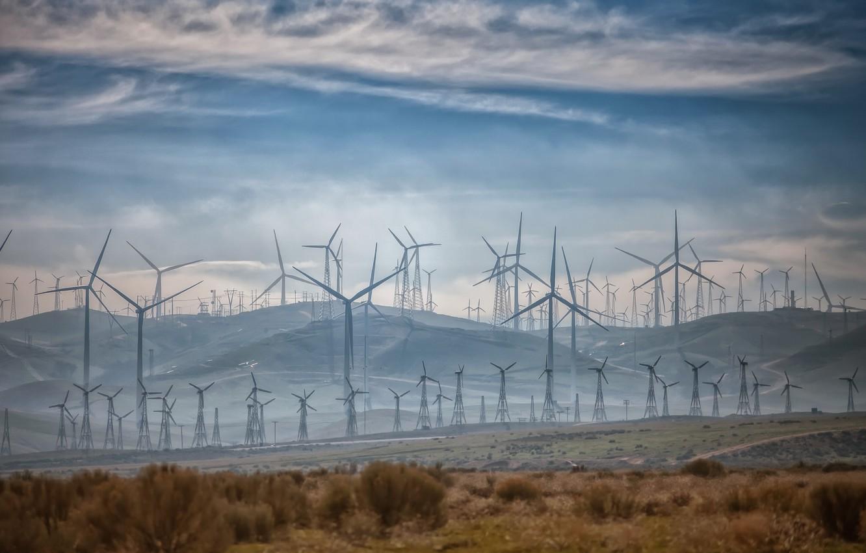 Фото обои Power, Energy, Wind Machine, Teahachapi