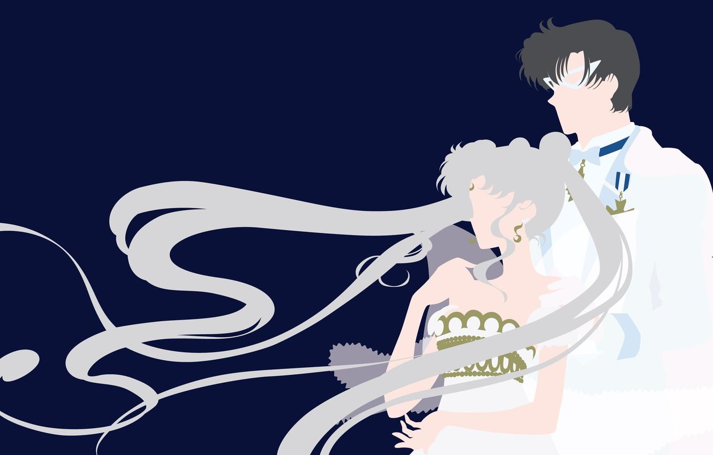 Фото обои девушка, романтика, пара, парень, двое, Sailor Moon