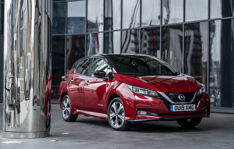 Фото обои Nissan, электромобиль, Leaf