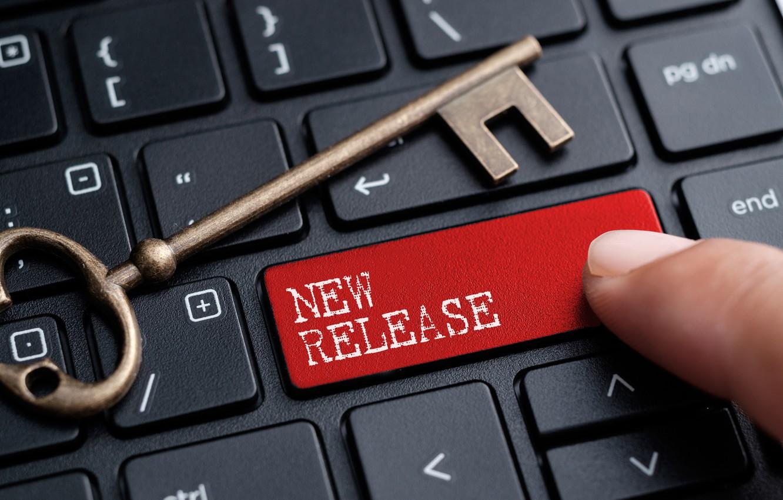 Фото обои чёрный, размытие, ключ, кнопки, клавиатура, red, black, key, buttons, keyboard