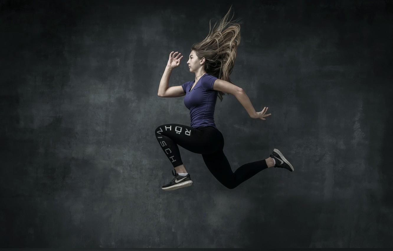 Фото обои девушка, спорт, бег