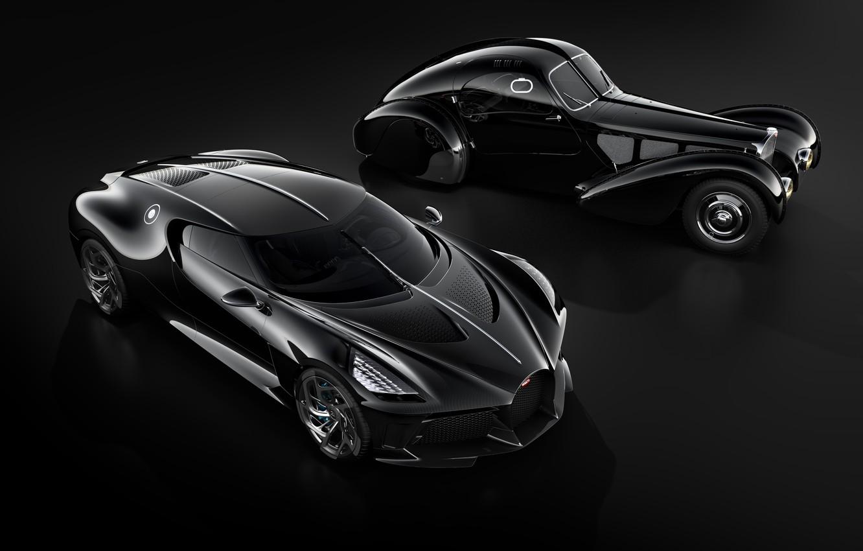 Фото обои машины, ретро, черный, Bugatti, стильный, гиперкар, La Voiture Noire
