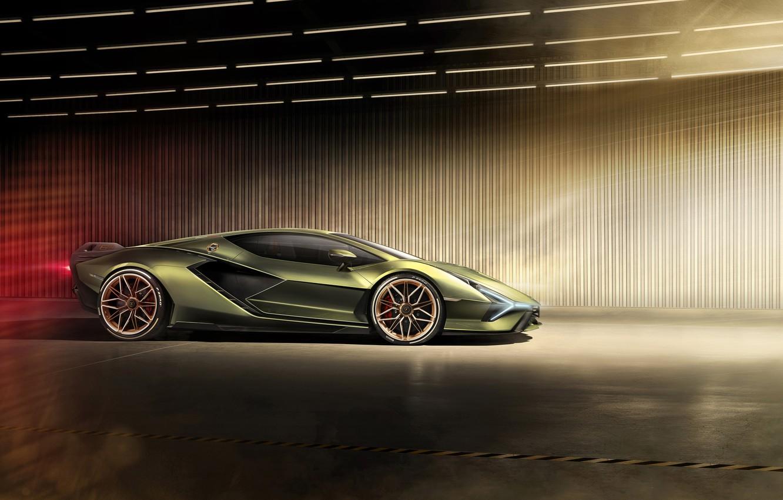 Фото обои машина, свет, Lamborghini, суперкар, диски, Sián