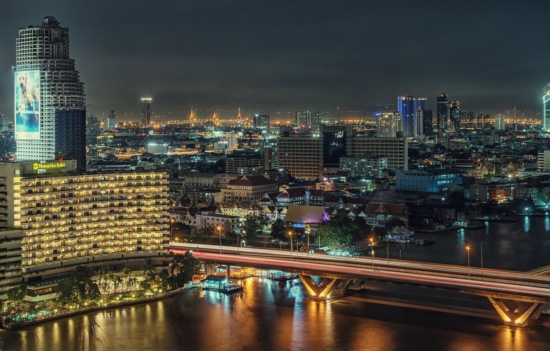Обои реклама, здания, экраны, бангкок, дороги, тайланд. Города foto 12