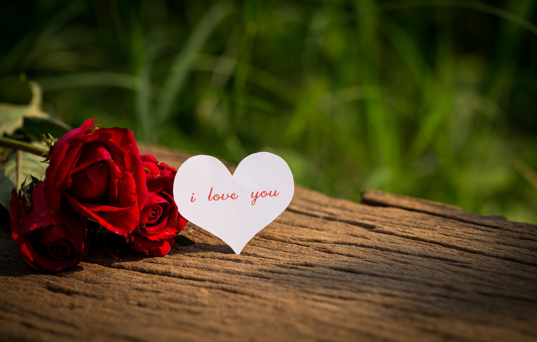 Фото обои любовь, цветы, сердце, розы, red, love, i love you, heart, wood, flowers, romantic, valentine's day, …
