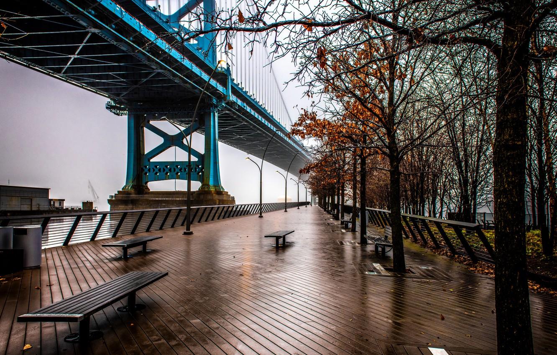 Фото обои Philadelphia, Polished, By Rain