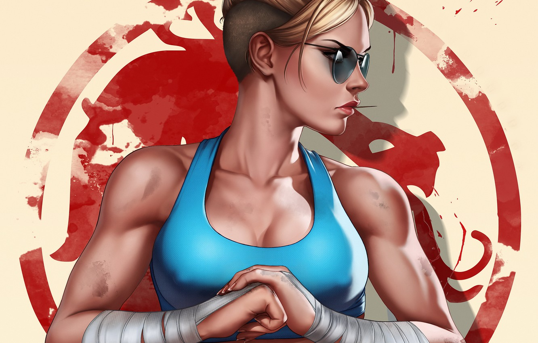 Фото обои девушка, art, Mortal Kombat, Cassie Cage, Кэсси Кейдж, by Dandonfuga