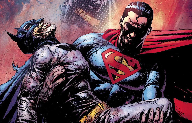 Фото обои fantasy, Batman, comics, Superman, artwork, mask, superheroes, costume, fantasy art, DC Comics, cape