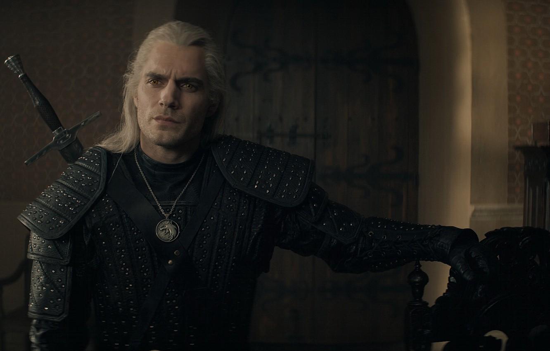 Фото обои меч, the witcher, броня, сериал, амулет, ведьмак, мутант, Геральт из Ривии, Белый Волк, Henry Cavill, …