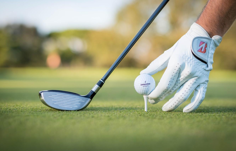 Фото обои поле, клюшка, гольф, перчатка, боке