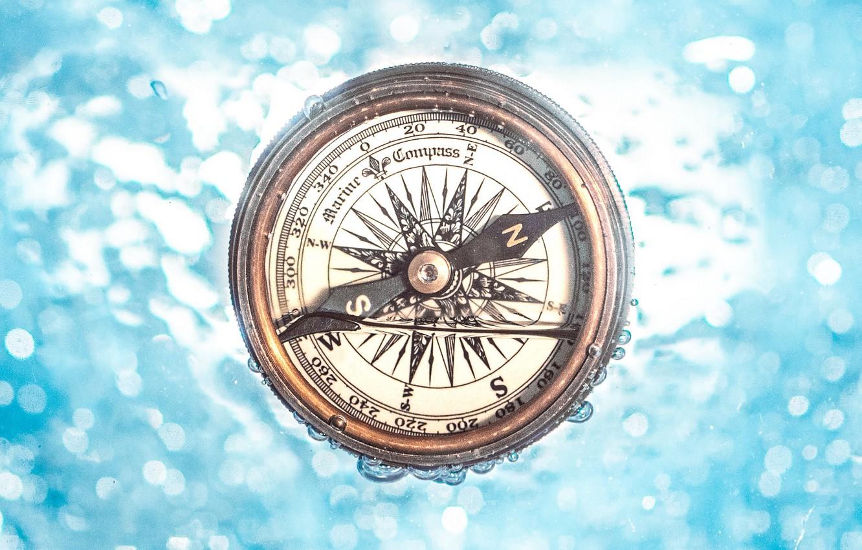 Фото обои вода, стрелка, компас, под водой