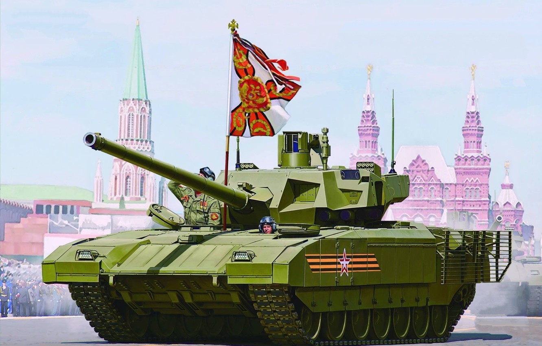 Фото обои Россия, Танк, ВС России, Основной боевой танк России, Объект 148, Армата, Т-14