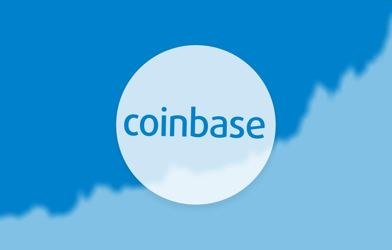 Фото обои logo, white, blue, cloud, exchange, coinbase