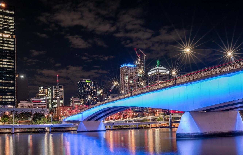 Фото обои Australia, Queensland, Brisbane, South Bank, River City