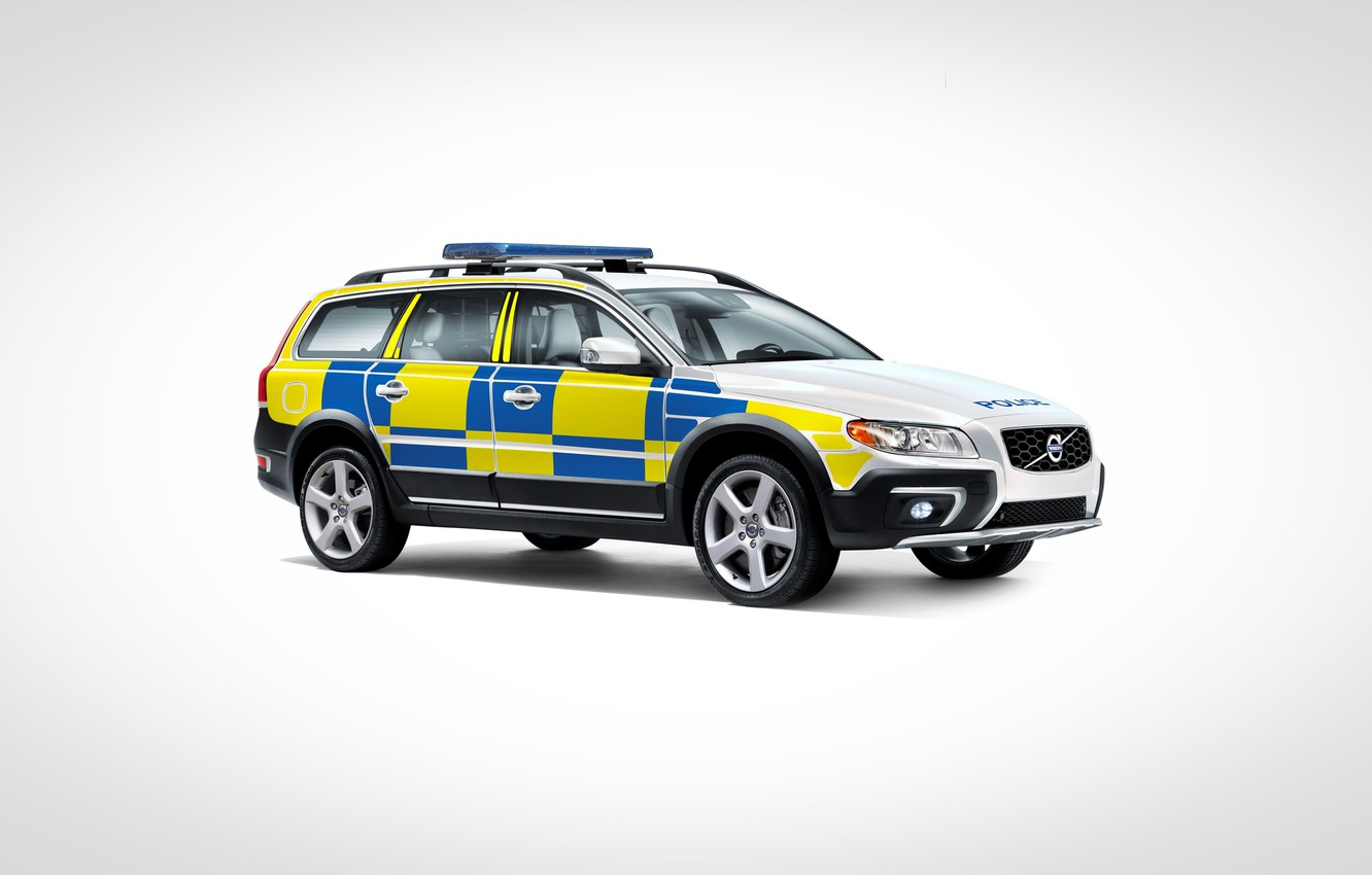 Фото обои volvo, xc70, united kindom, police car